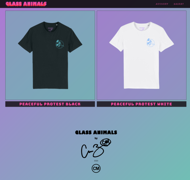 Glass Animals Fundraiser
