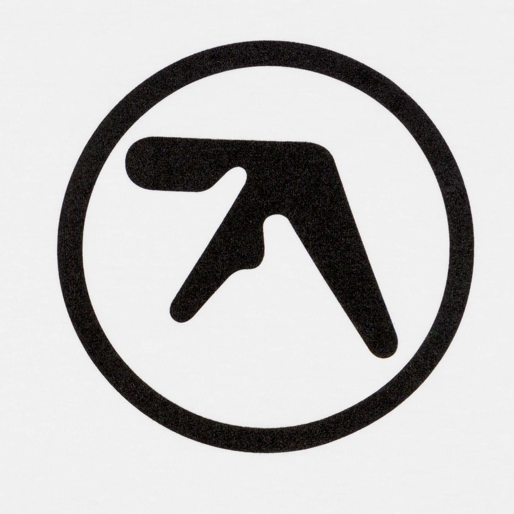 Aphex classic logo white t with black print