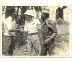 Fela Kuti, J Collins and J.K.Braimah filming Black President, Abeokuta.Circa:1977
