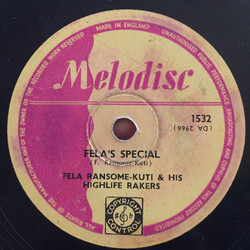 Fela Ransome-Kuti and His Highlife Rakers:  Aigana / Fela's Special