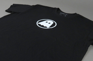Ghostly Logo Tee White On Black - International