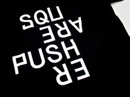 Squarepusher Black T-Shirt With White Print