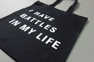 I Have Battles In My Life Black Logo Tote Bag