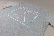 Bloc Grey T-shirt With Mint Logo