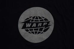 Navy Warp Logo T-shirt With Matt Silver Print