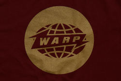 Burgundy Warp Logo T-shirt With Matt Gold Print