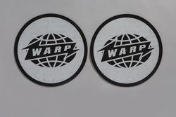 Black Warp Logo Slipmat With Grey Print