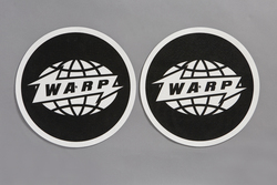 White Warp Logo Slipmat With Black Print