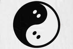 Ghostly Yin Yang Tee - White - International
