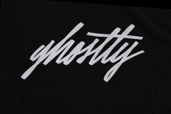 Ghostly Script Tee - Black - International