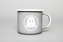 Ghostly Enamelware Mug - Grey - International