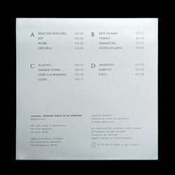 EVERYONE AFRAID TO BE FORGOTTEN LP packaging back