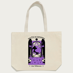 Sorceress Tote - Natural . Bag - Tote Bag - BACK