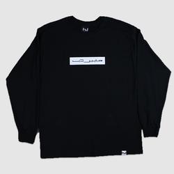 Hyperdub Arabic Logo Long Sleeve Black T-Shirt