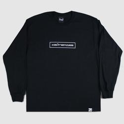 Hyperdub Russian Logo Long Sleeve Black T-Shirt