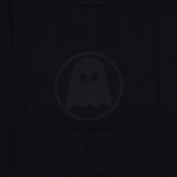 Ghostly Logo Tee - Black on Black