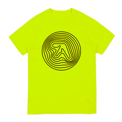 Saftey Green Short Sleeve T-Shirt with Black Print