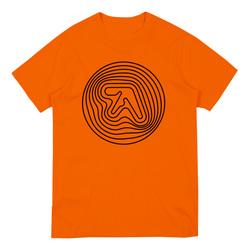 Orange Short Sleeve T-Shirt with Black Print
