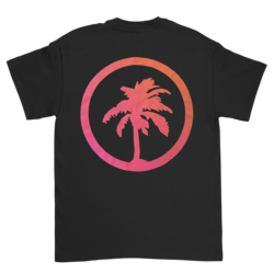 Gradient Palm Logo Black Tee