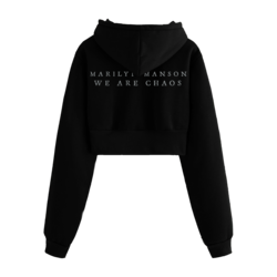 'We Are Chaos' Cropped Hoodie