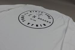 Ninja Tune 'Zen Brakes' Long Sleeve T-shirt - White