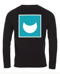 """Black Long-Sleeved T-Shirt """"Omega"""""""