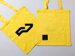 Tote - black on yellow
