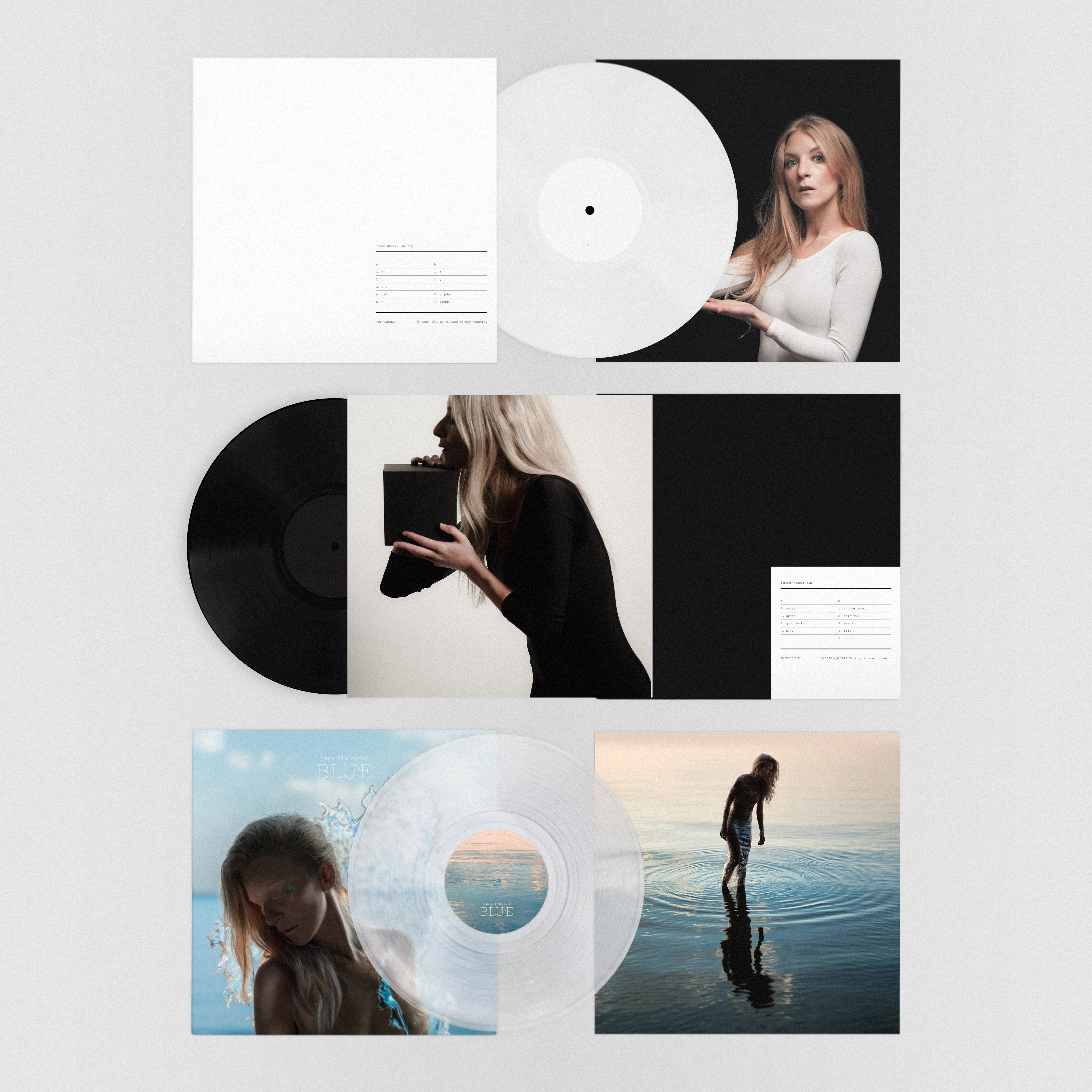 iamamiwhoami; LP collection