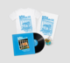 Album and T Shirt and Tea Towel and Pin