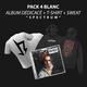 Pack tee-shirt BLANC + sweat-shirt + CD dédicacé
