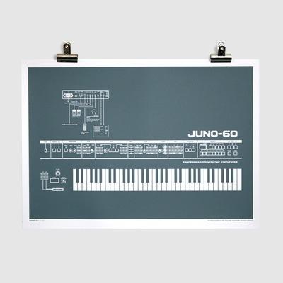 Juno-60 Screen-Printed Poster (Grey)