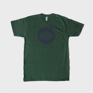 Forest Green Warp Logo T-Shirt with Dark Blue Print