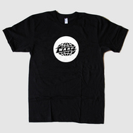 Black Warp Logo T-Shirt with White Print