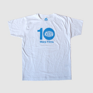 Warp Films 10-Year Anniversary T-Shirt (White)