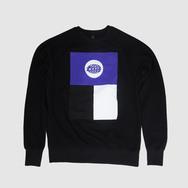 Black Warp Logo Sweatshirt