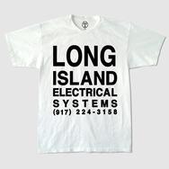 L.I.E.S. Text White T-Shirt - Black Print