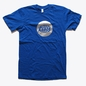 Blue Warp Logo T-Shirt with Silver Foil Print