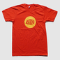 Red Warp Logo T-Shirt with Gold Print