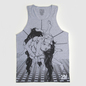 You're Dead! Tied Up - Grey Tank Top