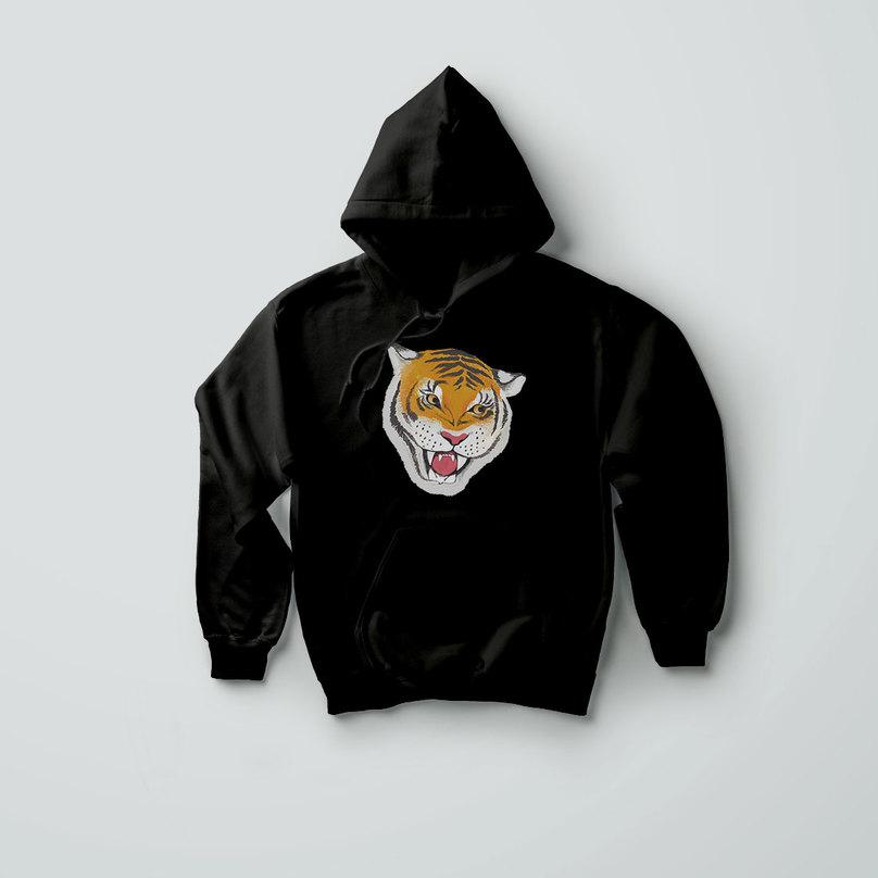 Tiger Hologram Hoodie