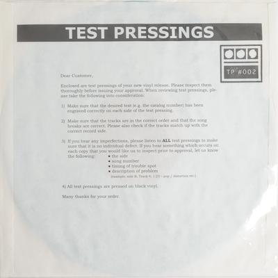 Demdike Stare - Testpressing#002  Vinyl 12  Bleep