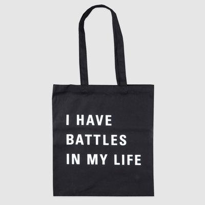 Battles - I Have Battles In My Life Black Logo Tote Bag. Battles. 28d5cfd0ff1cd