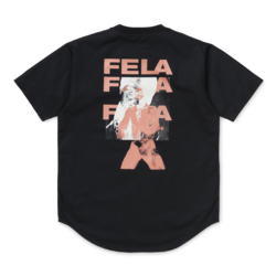 Fela Kuti Poplin T-Shirt Black