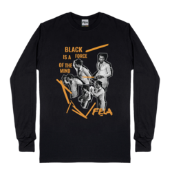 Black Is A Force Of The Mind Long Sleeve T-Shirt
