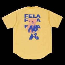 Fela Kuti Poplin T-Shirt Yellow