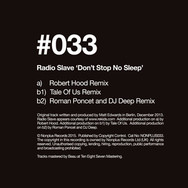 Don't Stop No Sleep - Robert Hood / Tales Of Us / Roman Poncet & DJ Deep Remixes