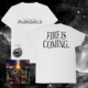 'Fire Is Coming' White T-shirt + Album Bundle