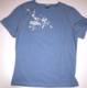 Scatter Graphic T-shirt - white on blue (womens)