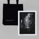 Tote + 'matterfall to (010)' A3 Print