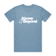 Above & Beyond Carolina Blue Logo Tee